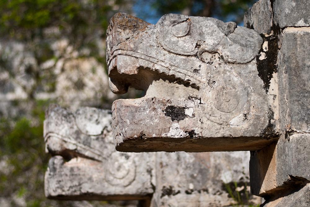 Plataforma de las águlias y los Jaguares Chichén Itzá Valladolid